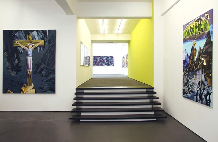 """Adam Saks """"Sacré nom de Dieu"""". Ausstellungsansicht. Foto: Wiley Hoard©BOUROUINA GALLERY"""