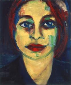Katia bleue by Marie-Cécile Lutta, oil on canvas, 2003