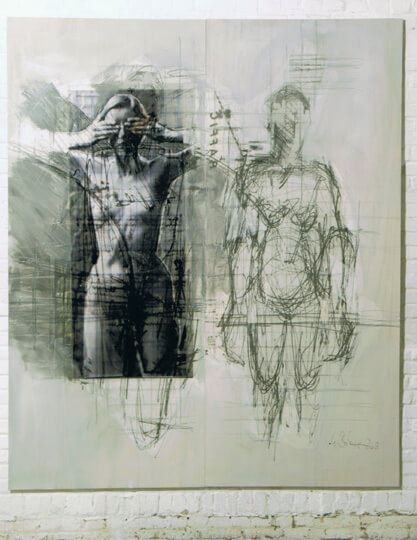Ulriek Bolenz, 2 Frauen, 2009, mixed media © U.Bolenz