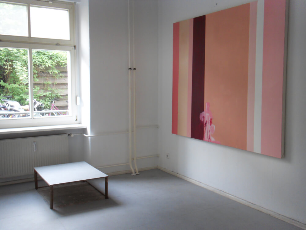 Installation by Francisco Rozas, Painting by Dalila Dalléas Bouzar©K.Hermann
