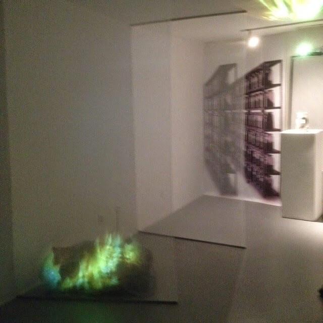 Test installation BOOKBURN© George Peck