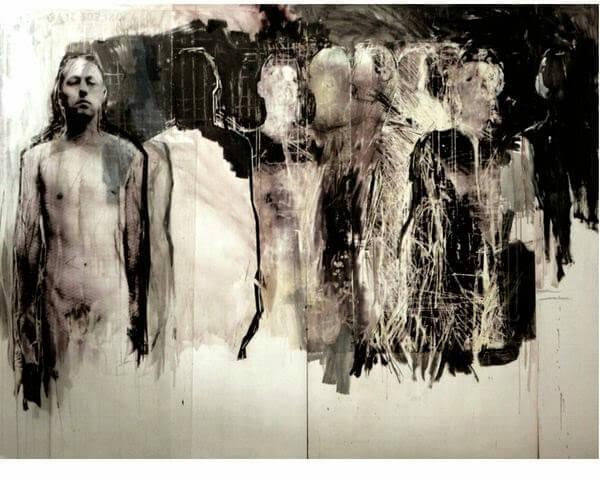 Ulrike Bolenz, Grosse Gruppe, 2013, oil, acrylic, photography© U.Bolenz