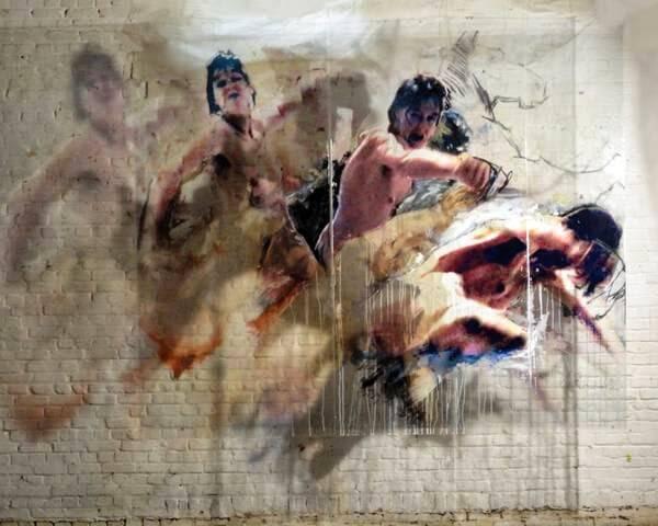 Ulrike Bolenz, Installation Frauenraub-Rubens-kontrair, 2012, mixed media © U.Bolenz