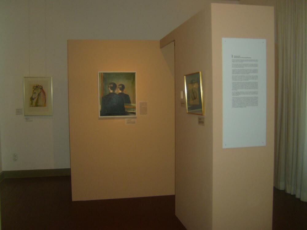 """Falsche Magritte """"Wa(h)re Lügen - Original und Fälschung im Dialog"""" Schloss Britz © K.Hermann"""