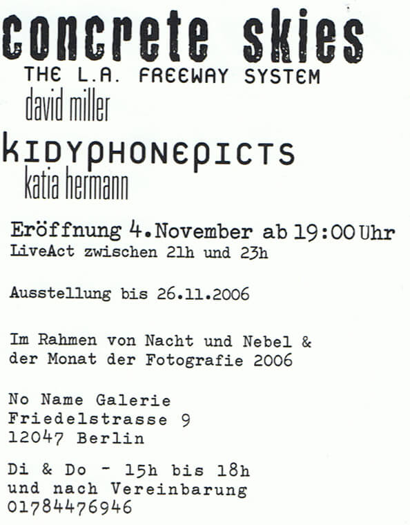 flyer Concrete skies/Kidy phone picts©K.Hermann