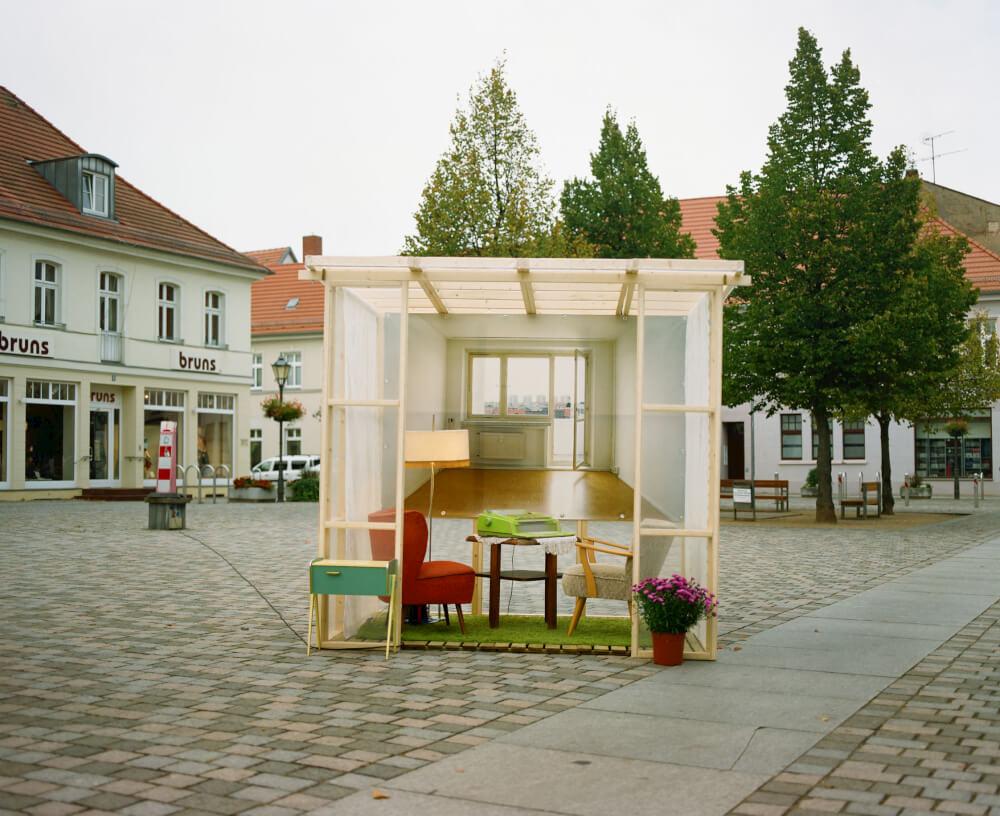 Raum für Gedanken Schulplatz Neuruppin 2014 © K.Ollroge